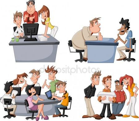 Cartoon people Stock Vector