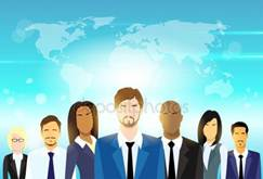BusinessPeople Group and Leader Royalty Free Stock Vectors